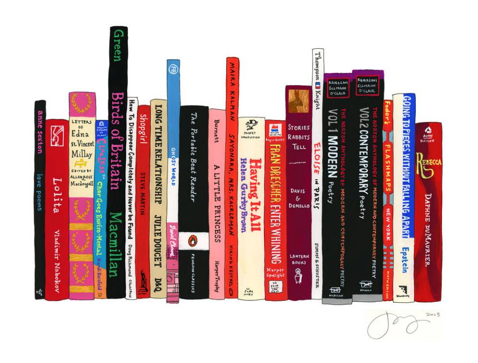 Lena Dunham's Ideal Bookshelf